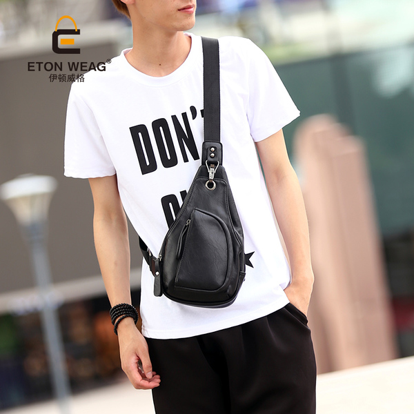พร้อมส่ง กระเป๋าผู้ชายคาดไหล่ Messenger bag แฟชั่นเกาหลี รหัส Man-2094 สีดำ