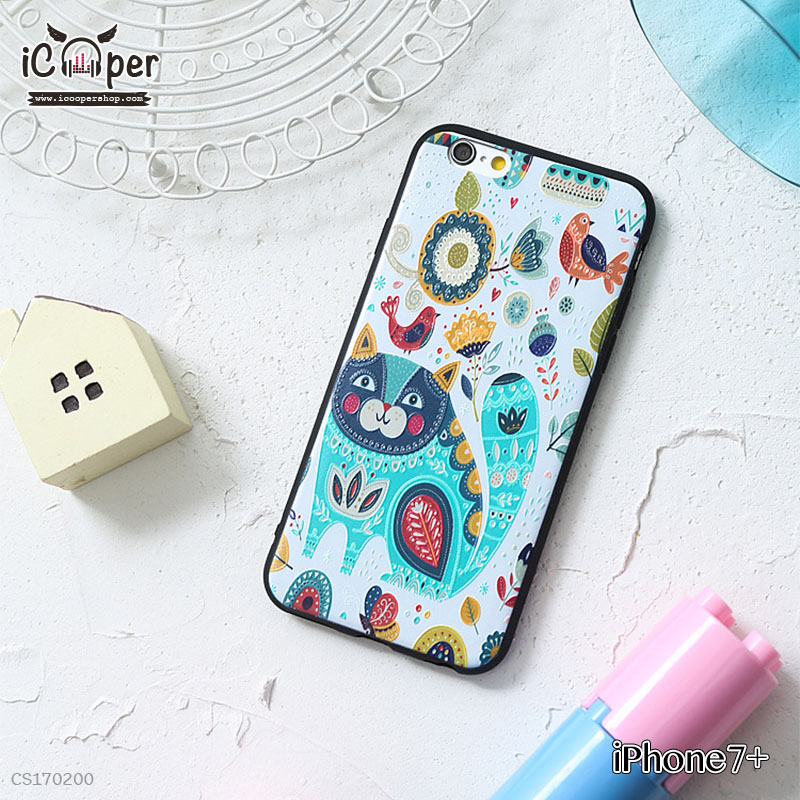 3D Case - Cat and Bird (iPhone7+)