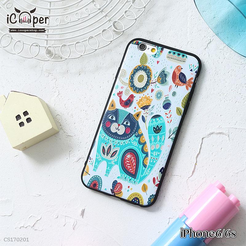 3D Case - Cat and Bird (iPhone6/6s)