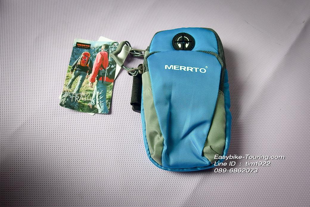 กระเป๋าใส่สตางค์-มือถือ MERRTO สำหรับนักวิ่งนักปั่น/ สีฟ้า