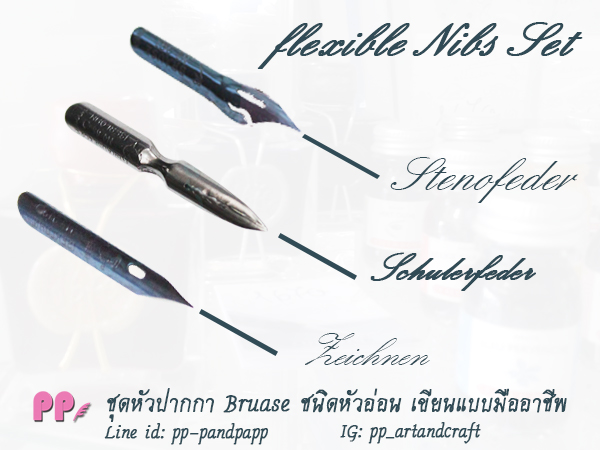 หัวปากกา Writing Set - Flexible Nibs