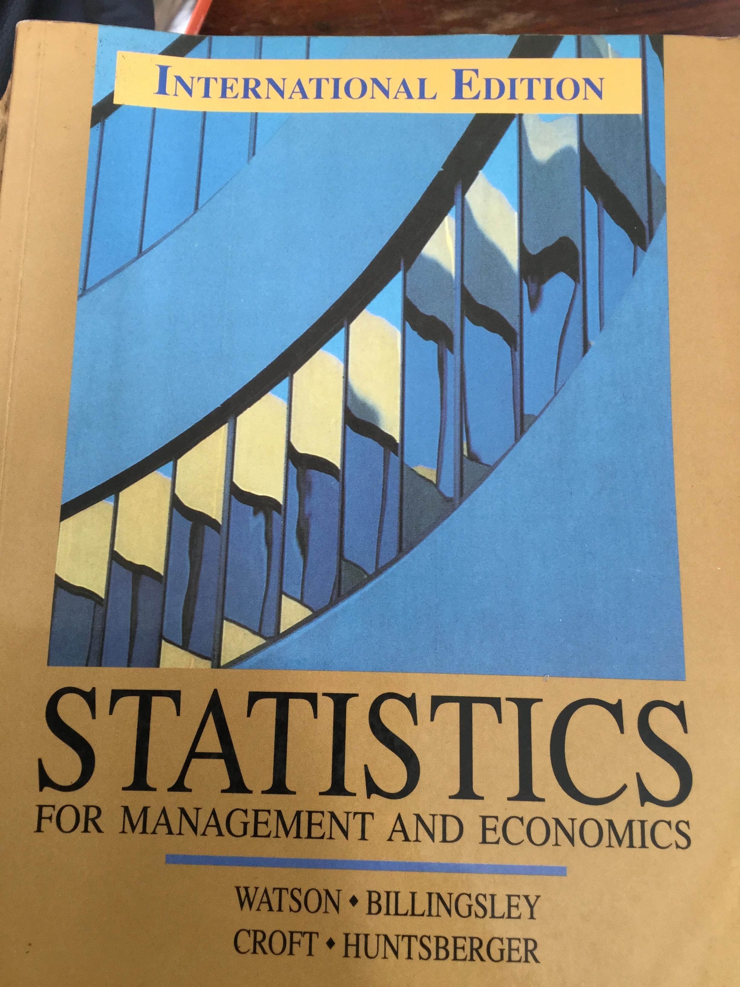 STATISTICS for Management and Economics.