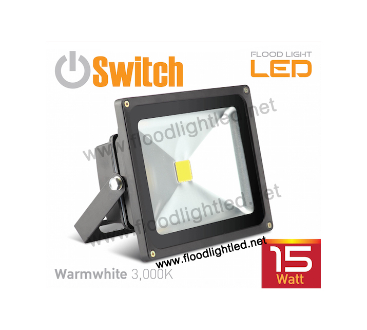 LED Flood Light 25w SWITCH แสงวอร์มไวท์ (แสงสีส้ม)