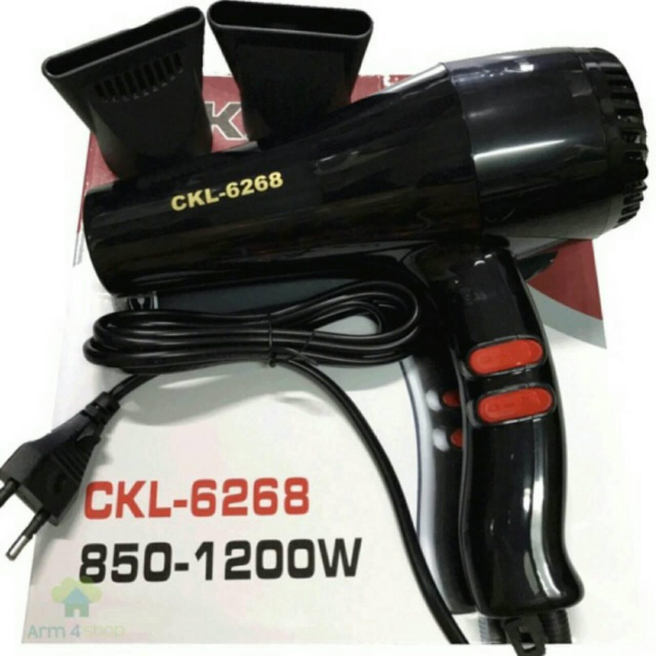 ไดร์เป่าผม รุ่น6268 ยี่ห้อ CKL หรือ JMF คละสี .1200w