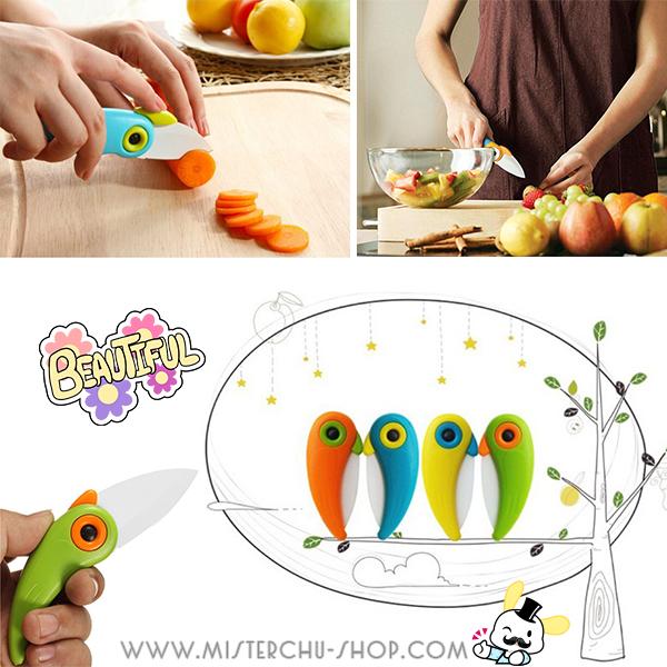 Mini Bird Ceramic Knife มีดเซรามิกนกน้อย พับได้