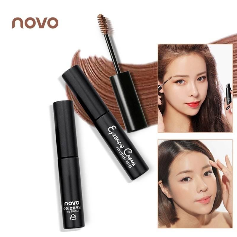 (ตัวใหม่ /ของแท้) โนโว novo eyebrow cream mascara มาสคาร่าปัดคิ้ว ติดทน กันน้ำ
