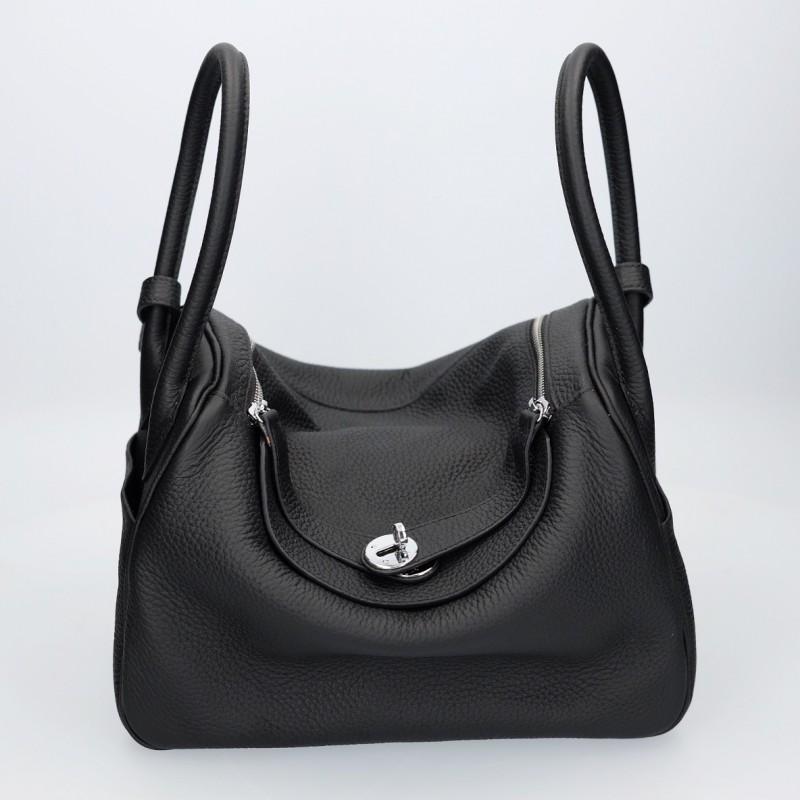 กระเป๋าสะพายข้างหนังแท้ Lindy 28 หนังแท้ [สีดำ]