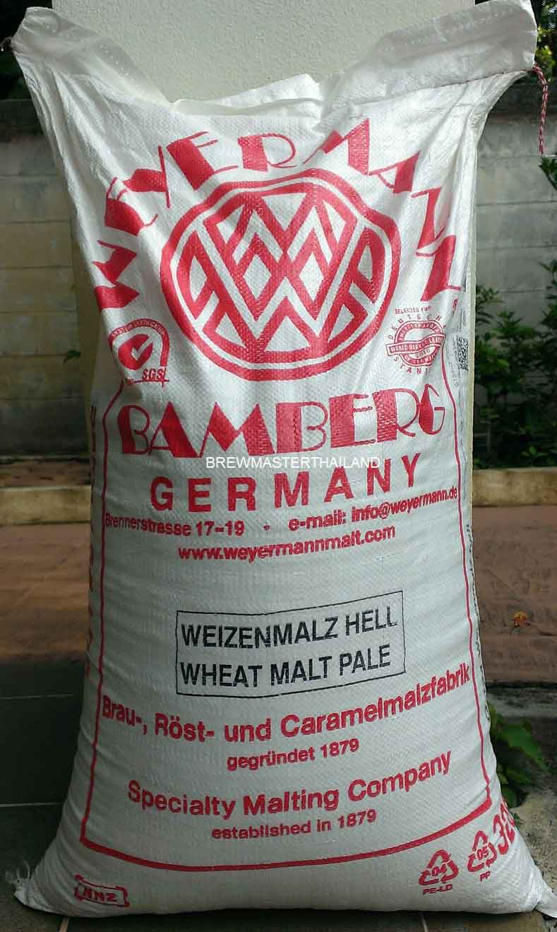 Pale Wheat Malt - Weyermann 25 KG 55 LB