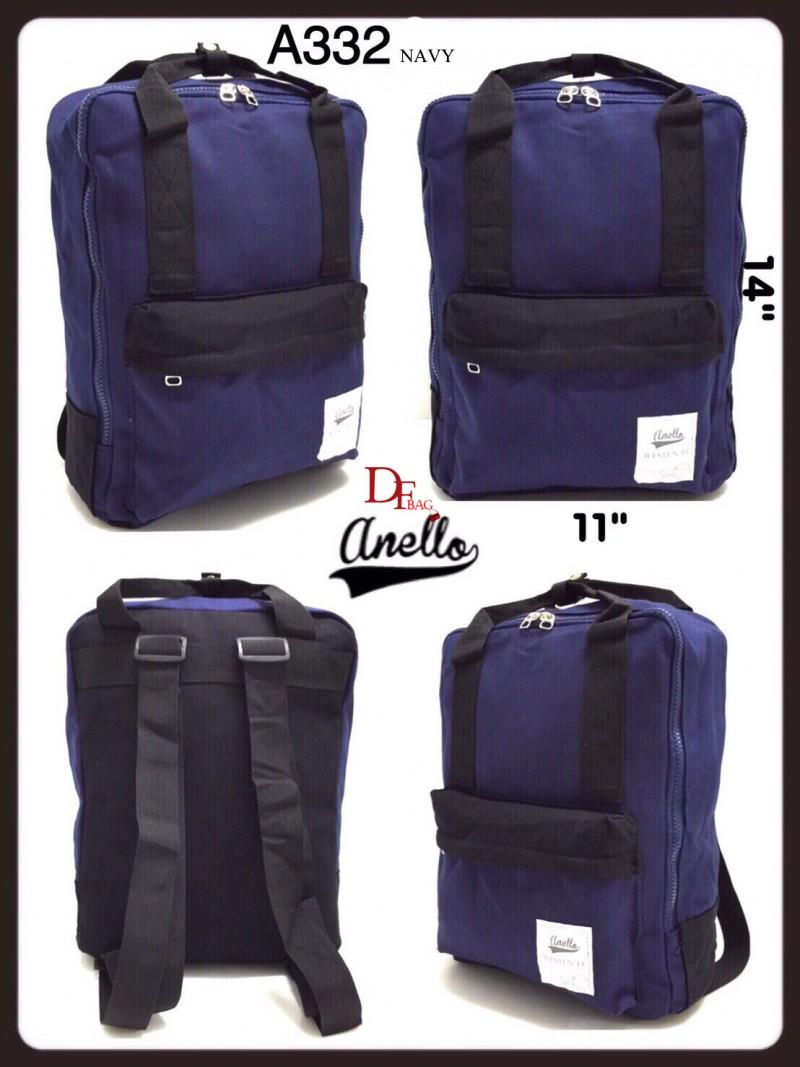 กระเป๋าเป้ผู้หญิง กระเป๋าสะพายหลังแฟชั่น Style Anello ขายที่สุดในญี่ปุ่น [สีกรม ]