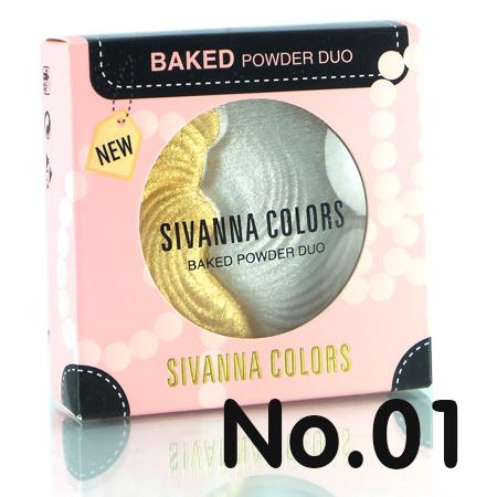 sivanna colors baked powder duo บลัชออน NO.1