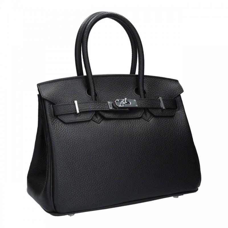 กระเป๋าถือ กระเป๋าออกงาน งานหนังแท้ เสริมลุคให้ดูหรู ดูแพง BIRKIN 30 cm. [สีดำ ]