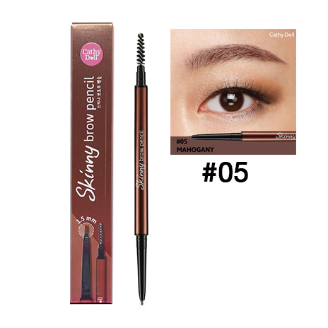 Cathy Doll Skinny Brow Pencil เบอร์ 05 สี Mahogany