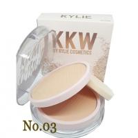 kylie kkw powder แป้งพัพไคลลี่ 2 ชั้น ผสมรองพื้น (No.03) ผิวอมชมพู
