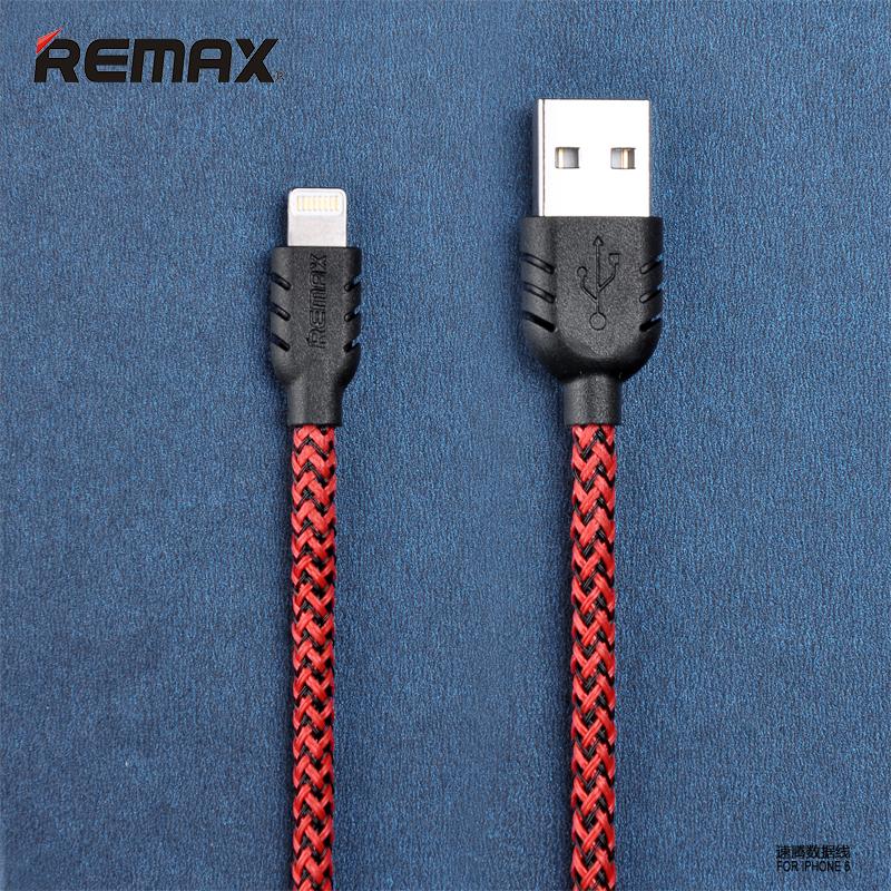 สายชาร์จ remax Nylon สำหรับ iOS (สีแดง)