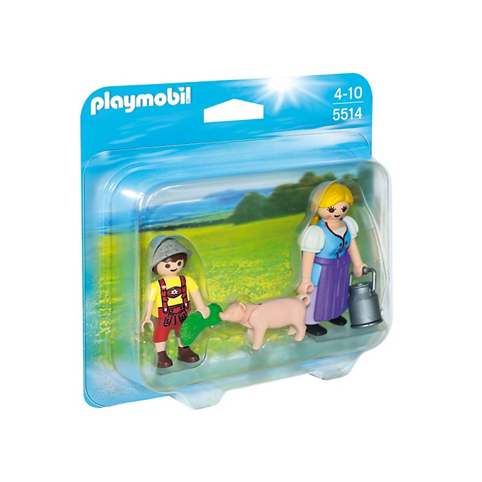 PLAYMOBIL 5514 Country Woman and Boy Duo Pack