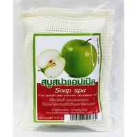 สบู่สปาถุงผ้า แอปเปิ้ล (100 กรัม) มีวิตตามินซี และคอลลาเจน ใช้ขัดเซลล์ผิวชั้นนอกที่ตายออก