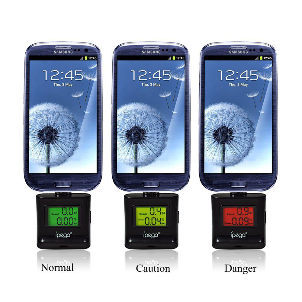 เครื่องเป่าแอลกอฮอลล์สำหรับมือถือ Android/Samsung/SONY/HTC/Xiaomi