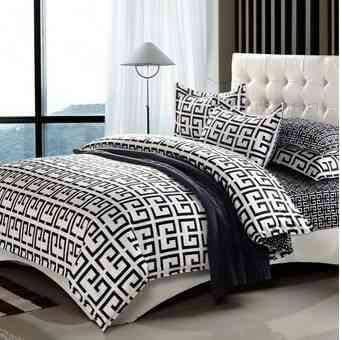 ผ้าปูที่นอน BlackWhite -4