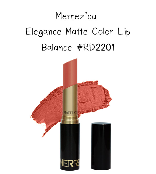 Merrez'Ca Elegance Matte Color Lip #RD2201 Balance