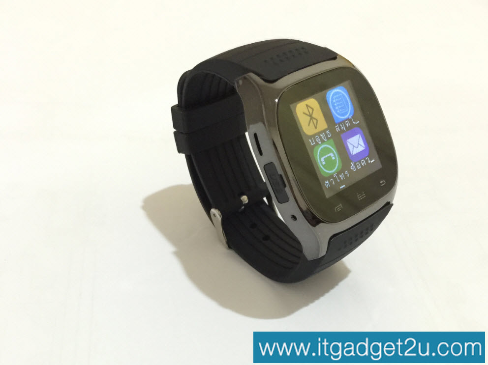 นาฬิกาโทรศัพท์ Bluetooth Smart Watch รุ่น M26 สีดำ ราคา 950 บาท ปกติ 2,590