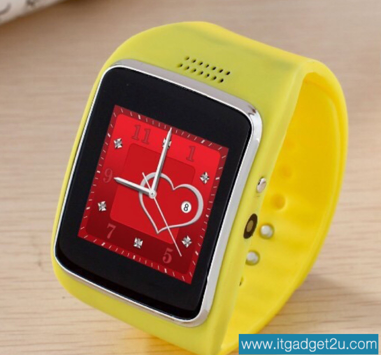 นาฬิกาโทรศัพท์ Smartwatch รุ่น Ai Watch Phone สีเหลือง ลดเหลือ 1,950 บาท ปกติราคา 3,450