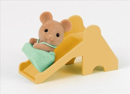 Sylvanian Families 1451 Mouse Baby with Slide