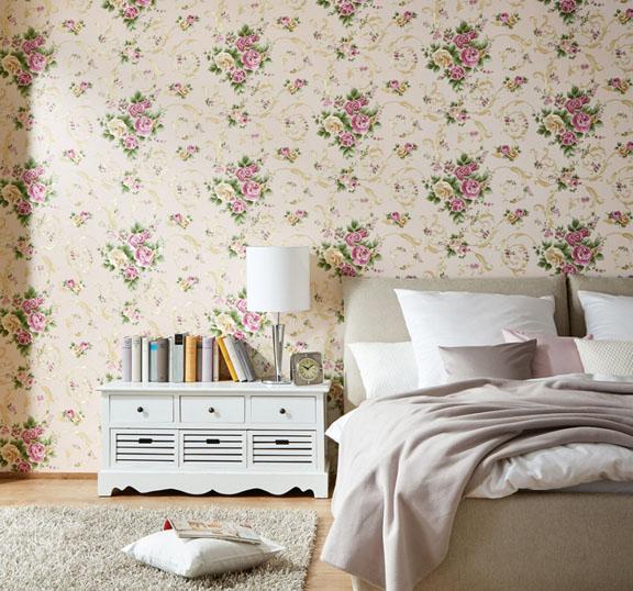 ดอกไม้คลาสสิค สีชมพู-ทอง