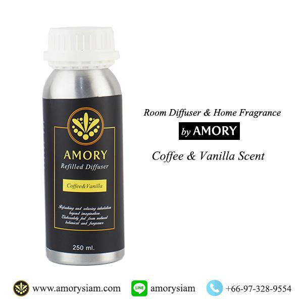 กลิ่น Coffee & Vanilla 250 ml. Refilled diffuser รีฟิลน้ำหอมอโรม่าปรับอากาศ