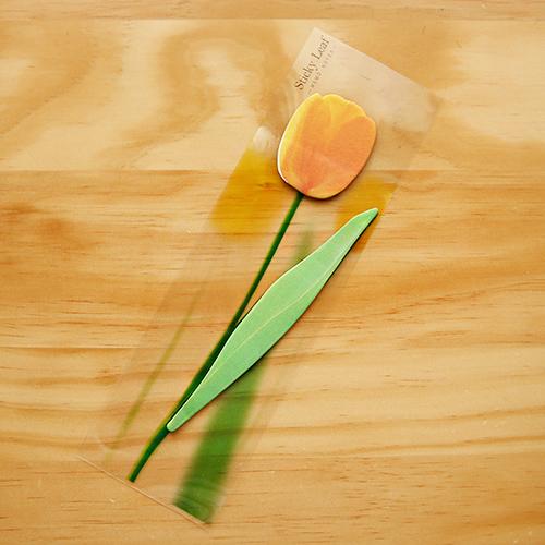 Post it โพสต์อิทเกาหลีลายดอกทิวลิป-สีส้ม