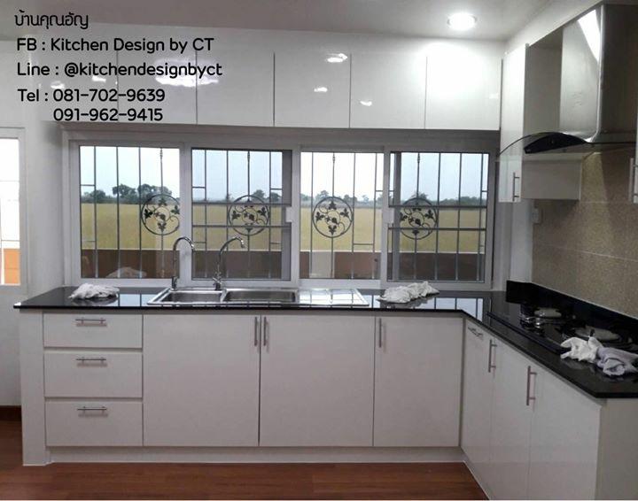 Classic White Kitchen (ชุดครัวบิวท์อินหน้าบานสีขาวสไตล์คลาสสิค)