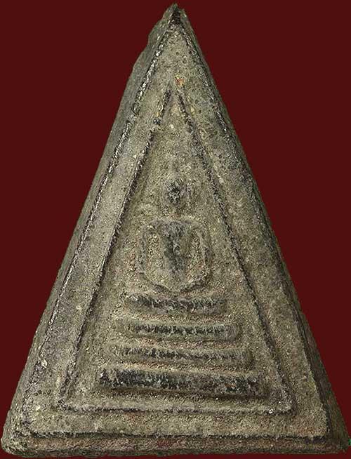 พระผงพิมพ์สามเหลี่ยม เนื้อใบลาน ปี๒๔๙๕ หลวงปู่นาค วัดระฆังฯ