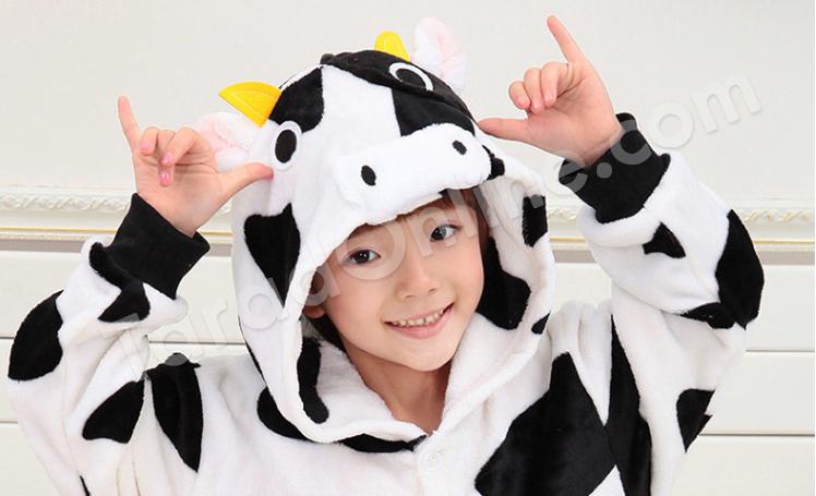 ชุดนอนมาสคอตเด็ก ลูกวัว Size 125 (ขนาด 140 cm - 150 cm)