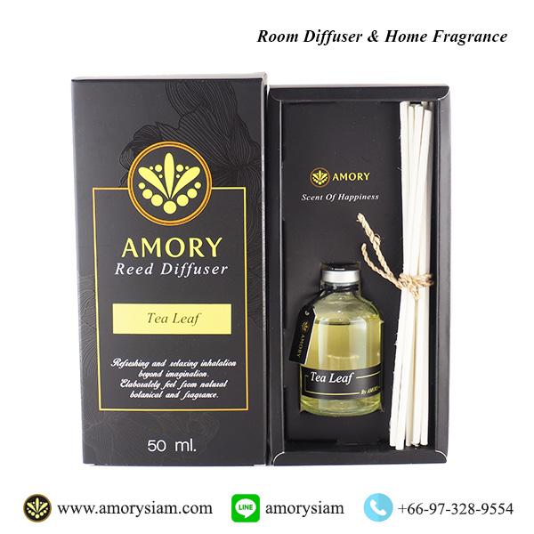 กลิ่นใบชา Tea Leaf 50 ml. ก้านไม้หอม Aroma Reed Diffuser