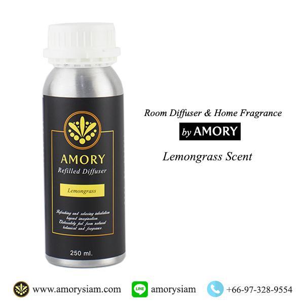 กลิ่น Lemongrass ตะไคร้ 250 ml. Refilled diffuser รีฟิลน้ำหอมอโรม่าปรับอากาศ