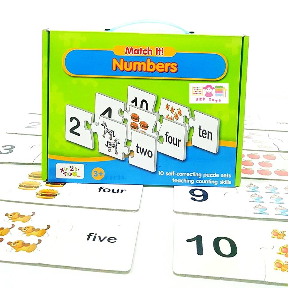 จิ๊กซอว์ Match It Number หมวดตัวเลข 1-10