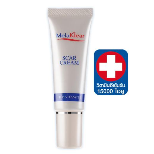ครีมลดรอยแผลเป็น Melaklear Scar Cream plus Vitamin E 10g