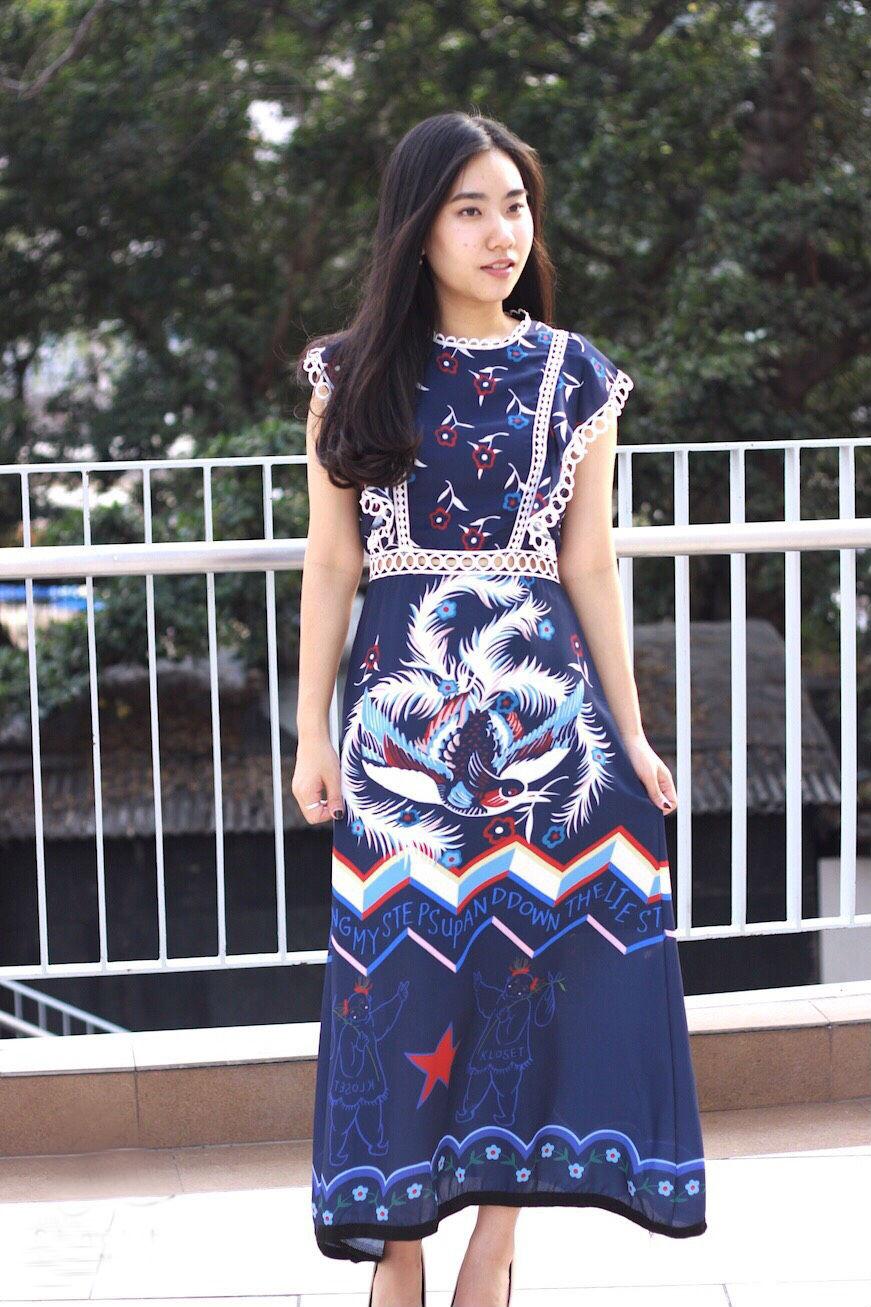 MD0020 เสื้อผ้าแฟชั่นเกาหลี เดรสเกาหลี เดรสยาว เดรสแฟชั่น แม็กซี่เดรส Maxidress ลายดอก Maxi Dress