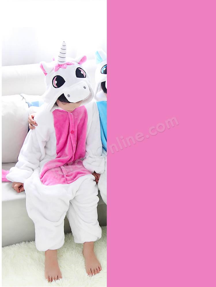 ชุดนอนมาสคอตเด็ก ยูนิคอน ชมพู Size 105 (ขนาด 120 cm - 130 cm)