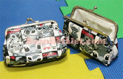 กระเป๋าสตางค์แบบคลิปลายตารางสติทช์ 9x7x3.5ซม. (Stitch TW-119FC)