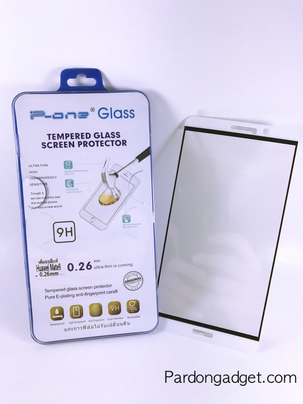 ฟิล์มกระจกเต็มจอ Huawei Mate 9 สีขาว