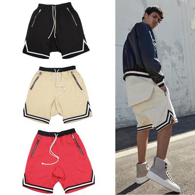 กางเกงขาสั้น Justin Bieber แต่งขอบหยักลายเส้น มี3สี