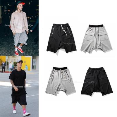กางเกงขาสั้น Justin Bieber แต่งกระเป๋าคู่ด้านหลัง มี2สี