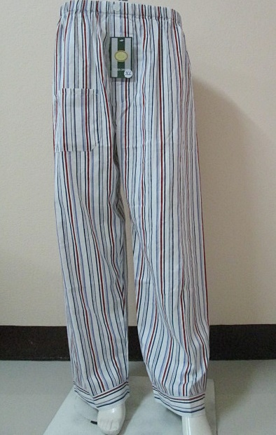 กางเกงนอนขายาว(ชาย) ผ้าคัตตอน เกรด เอ แบบลายริ้ว ไซส์ XL