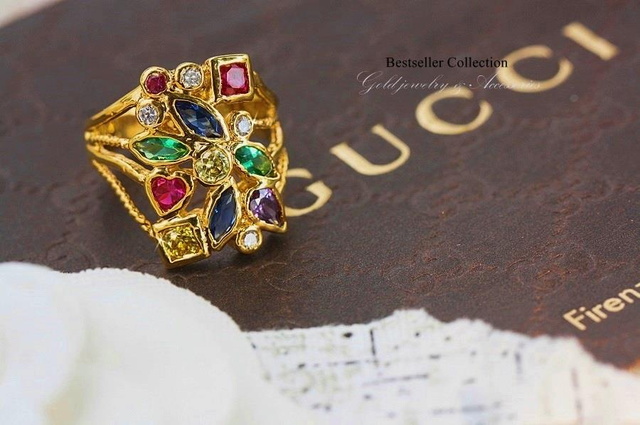 แหวนนพเก้า (หุ้มทองคำแท้)