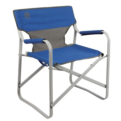 Coleman Steel Deck Chair #Blue