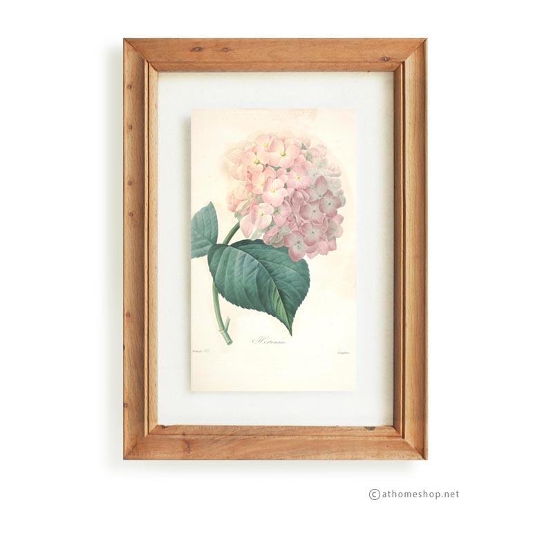 วอลล์อารต์ลายดอกไม้ กรอบบัวไม้สีอ่อนกระจกคู่