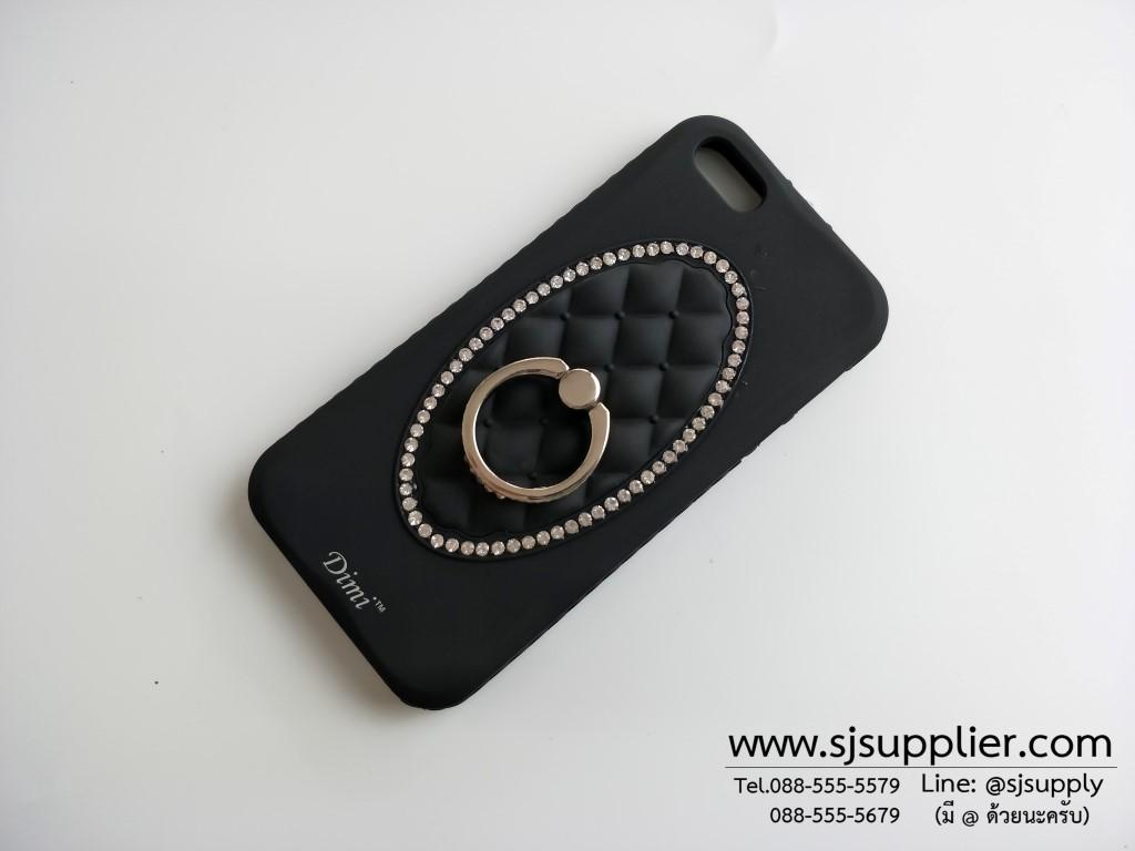 เคส Samsung J7 (2016) แหวนเพชร ตั้งได้ สีดำ BKK