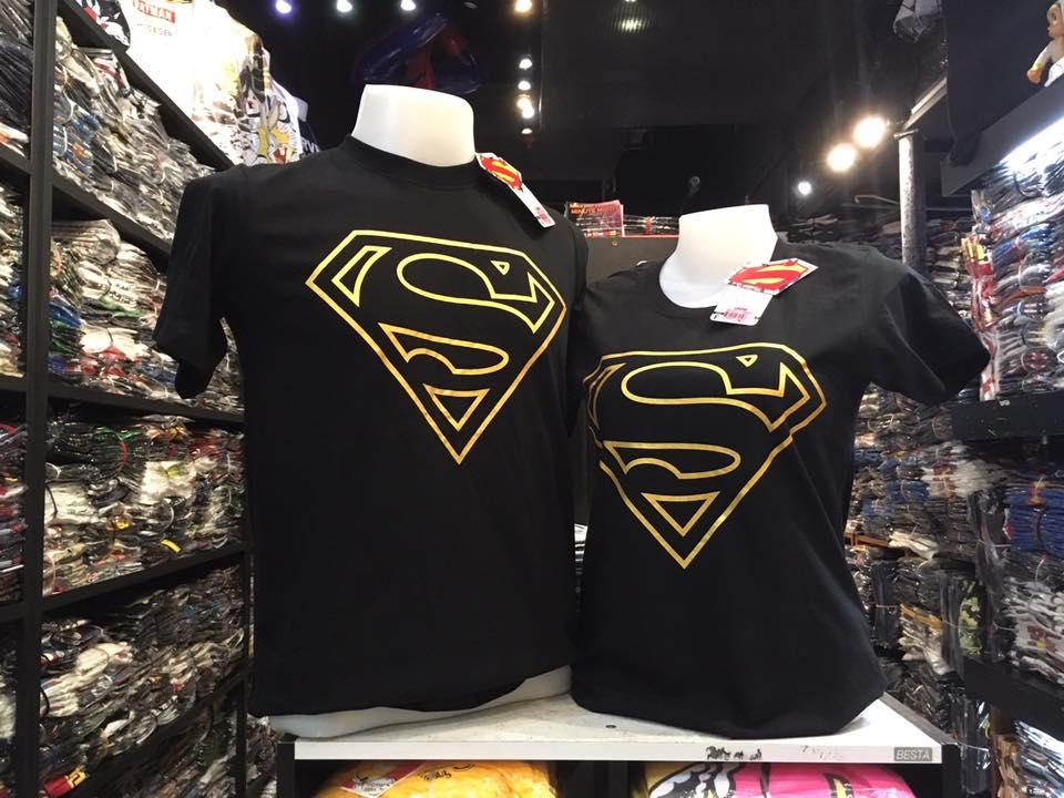 ซุปเปอร์แมน สีดำ (Superman black logo GOLD)