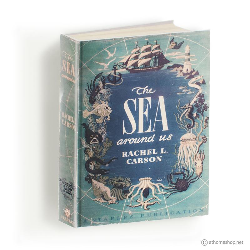 ตู้แขวนผนังทรงหนังสือ ปก - THE SEA AROUND US