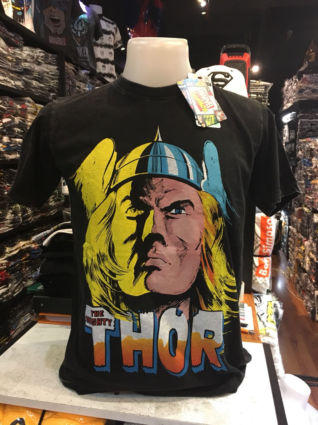 ฮีโร่มาร์เวล สีดำ (Thor big face washed CODE:0832)